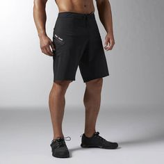Reebok CrossFit Super Nasty Hero Board Short - Black