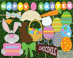 Instant Download Easter Photo Booth Props by InkOrchardPrintables, $5.95