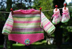 layette ensemble 3-6 mois neuf tricoté main brassière et chaussons : Mode Bébé par com3pom