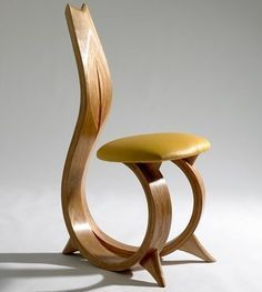 Chair Design Ideas Woodworking is a multifaceted craft that can result in many beautiful and useful pieces. If you are looking to learn about woodworking, then you have came to the right place. Funky Furniture, Unique Furniture, Wood Furniture, Furniture Design, Furniture Ideas, Chair Design Wooden, Wood Design, Modern Design, Wooden Chair Plans