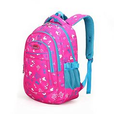 f8b3ce56871a ProEtrade Unisex Printed Waterproof For Travel Outdoor School backpack  daypack Rose Red B   Learn more