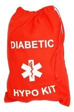 Diabetic / Diabetes hypo kit bag £4.99 - RED - Ebay Different colours available. Got one for my son to take to school.