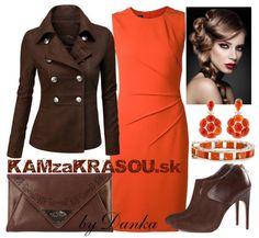 Jednoduché oranžové šaty - KAMzaKRÁSOU.sk #dress #heels #formaldress