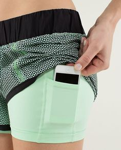 Lulu Running Shorts, this would be a great place for my phone so I can use wireless headphones!!