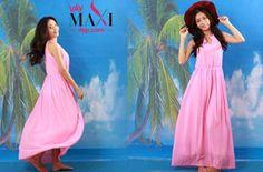 Đầm maxi cổ yếm cực xinh và sang trọng – MX236