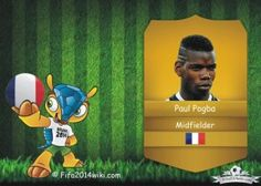 Paul Pogba - France Player - FIFA 2014 Argentina Players, Brazil Players, Germany Players, Messi Argentina, Sven Bender, Lars Bender, Cristiano Ronaldo Profile, Lionel Messi, Eduardo Vargas