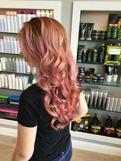 Rose gold hair color cassandra 2