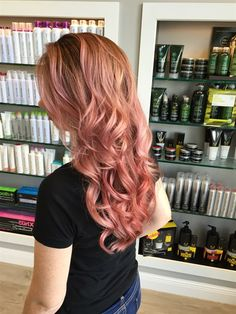 Rose gold hair color cassandra 2