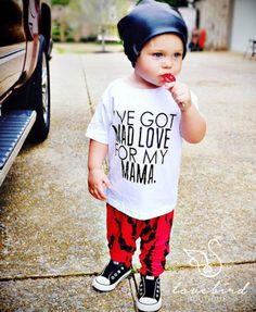 Baby & Toddler's I've Got Mad Love for my Mama Tee  Boy Graphic Tees, Baby Boy Shirts, Toddler Boy Shirts, Graphic tee, Boy Shirts