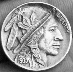 John Carter - Crazy Feathers Hobo Nickel, Feathers, Buffalo, Coins, Rooms, Feather, Water Buffalo