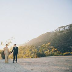 Engagement photos at the iconic Hollywood sign!