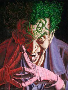 The Joker - line art by Mike Deodato paint by Matt Elder.