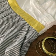 PRICE DROP 🔥 Pocket Dress 🌻 Anthropologie Style Adorable yellow striped pocket dress with adjustable spaghetti straps! Style looks like Anthropologie or Mod Cloth, brand name is Ruby Rox. Size 11 but since it can be adjusted it can fit a M or L. Anthropologie Dresses