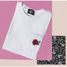 Rose Patch  Pocket Tee  Valfre.com #valfre