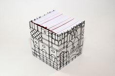 Cube book by Robert Steinmüller, via Behance