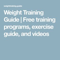 Use the free training guide, training programs, nutrition guide, and exercise database to create your best possible body! Face Pull Exercise, Do Exercise, Big Muscle Training, Weight Training, Free Training Programs, Knee Pain Exercises, Face Pulls, Printable Workouts, Muscle Building Workouts