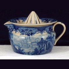 Lemon sqeezer - Blue & White French Vintage Design by Somerton Green