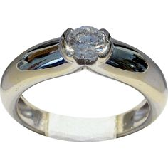 CARTIER 1996 'Ideal' Cut VVS2/G-H 0.30ct Diamond Solitaire Ring