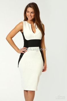 Wholesale Clubwears Sheath Dresses - Buy Womens Sexy Red White V-neck Sleeveless High Waist Peplum Sheath Club Dress Brand Midi Summer Sprin...