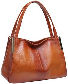 01b729fad812 Heshe Women s Leather Handbags Top Handle Totes Bags Shoulder Handbag  Satchel Designer Purse Cross Body Bag