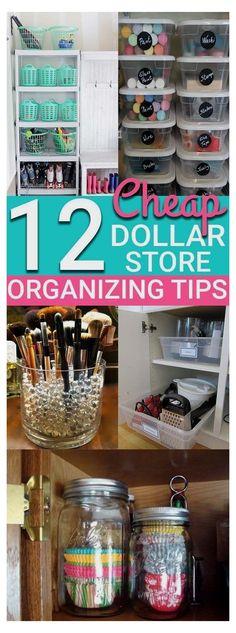 Organisation Hacks, Craft Closet Organization, Organizing Hacks, Organizing Your Home, Diy Hacks, Diy Organizer, Organizers, Dollar Store Crafts, Dollar Stores
