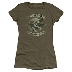 "Checkout our #LicensedGear products FREE SHIPPING + 10% OFF Coupon Code ""Official"" Army / Union Eagle-short Sleeve Junior Sheer-military Green-sm - Army / Union Eagle-short Sleeve Junior Sheer-military Green-sm - Price: $34.99. Buy now at https://officiallylicensedgear.com/army-union-eagle-short-sleeve-junior-sheer-military-green-sm"