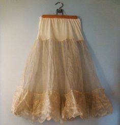 Ivory Petticoat Vintage by SecondWindVintage