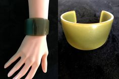 Art Deco Extra Wide Genuine Bakelite Cuff Bracelet, Translucent Olive Khaki to Honey Mustard Change of Colour RARE Bracelet Tested Authentic Black Cat Appreciation Day, Color Changer, Power Dressing, Art Deco Era, Honey Mustard, Jewelry Party, Hippie Boho, Gifts For Her, Colour