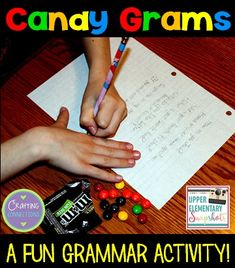 Candy Grams to review the 4 types of sentences! Check out this grammar activity plus four more engaging grammar games for upper elementary students! This blog post contains FREEBIES, too!