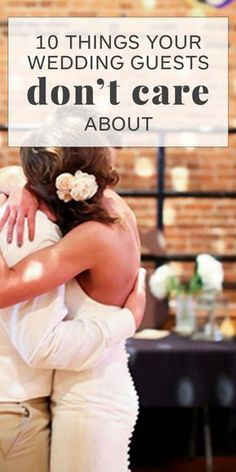 Know what your wedding guests really care about before you stress over the…