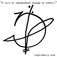 Sigils are a great introduction to chaos magick, and a fantastic way. Magic Symbols, Sacred Symbols, Wiccan, Witchcraft, Witches Alphabet, Book Of Shadows, Amulets, Image, Reiki