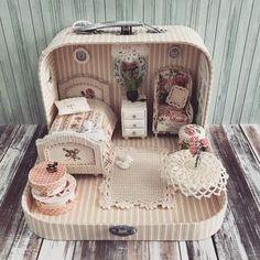 2018.04 Miniature Bedroom Dollhouse ♡ ♡ By Olga Mokriskaya