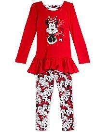 Disney's Minnie Little Girls' 2-Pc. Top and Leggings Set