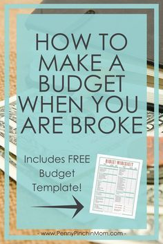 Budget Tip: Learn how how to create a budget when you are broke! How to create a budget Budget when you are broke budgeting Budget printable Budget Tips Making A Budget, Create A Budget, Making Ideas, Budget Help, Financial Peace, Financial Tips, Financial Planning, Financial Literacy, Budgeting Finances