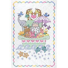 @Overstock - Commemorate the birth of your special baby with this delightful crib quilt topNeedlework kit features a charming Noah's Ark designCross stitch kit makes just the right finishing touch to any nurseryhttp://www.overstock.com/Crafts-Sewing/Stamped-White-Quilt-Crib-Top/3344024/product.html?CID=214117 $9.99