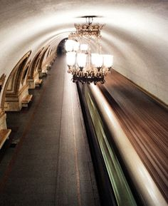 The sober elegance of a Moscow subway station