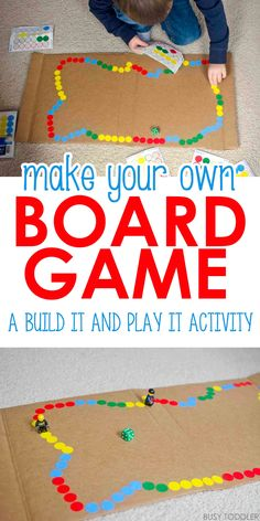 ideas for math board games diy activities Preschool Board Games, Math Board Games, Math Games For Kids, Board Games For Kids, Games For Toddlers, Activity Games, Activities For Kids, Diy Board Game, Fun Math