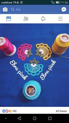 Bohemian Bracelets, Applique Patterns, Flower Necklace, Crochet Flowers, Diy And Crafts, Embroidery, Handmade, Jewelry, Earrings Handmade