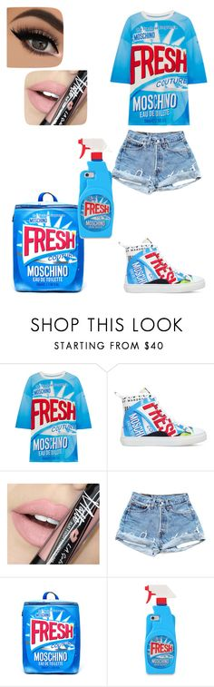 """""""Fresher Than You"""" by kissesari on Polyvore featuring Moschino and Fiebiger"""