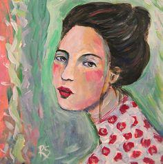 Lizelle  Original Portrait Painting by Roberta Schmidt - ArtcyLucy on Etsy SOLD