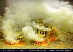 Indonesia - Java Island - Local Men Working in Sulphur Mines at Ijen Volcano