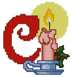 Advanced Embroidery Designs - C is for Candle