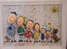 Diy Crafts - Creative Paintings Made With Stone Painting, Creative Painting Paintings Stone Kids Crafts, Diy And Crafts, Craft Projects, Arts And Crafts, Paper Crafts, Yarn Crafts, Fabric Crafts, Pebble Painting, Pebble Art