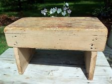 primitive wood stool - Google Search
