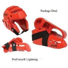 f6bae110a33b Lightning Red Karate Sparring Gear Package Deal - Child Small  All Deluxe  Foam padded. Complete set of Head