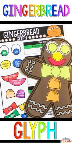Teaching a gingerbread unit this holiday season with you Kindergarten of First Grade students? This gingerbread glyph craft is PERFECT for creating a festive display while also incorporating math activities, writing, and more. Plus... they're just do dang cute!