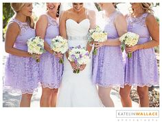 Lavendar bridesmaid dresses Katelin Wallace Photography