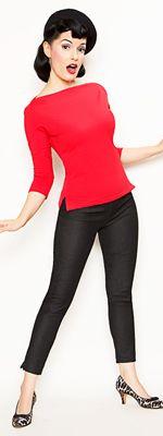 Rockabilly Girl by Bernie Dexter**Red 50's Style Venice Top - XS-1X
