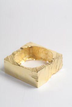 Beckett Bangle Gold by Macha Jewelry