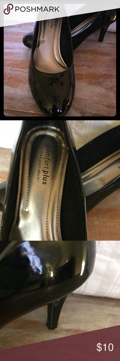 "Black Patent Heels Black patent 3"" pump. Worn twice. Excellent condition. Shoes Heels"